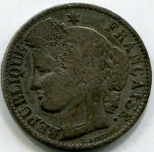 1850 A France 50 Cents KM769.1 VF