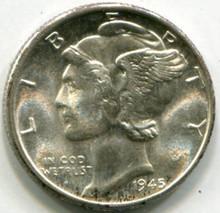 1945 D  Mercury Dime UNC