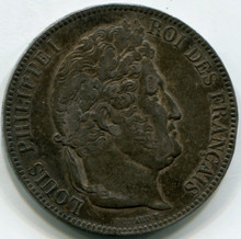 1840 W France  5 Francs KM#749.13  XF