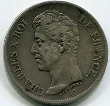 1826 I France 5 Francs KM#720.6 XF