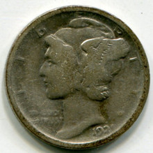 1921 Mercury Dime  G