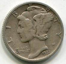 1931 D Mercury Dime VF
