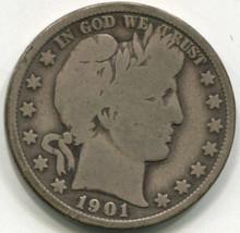 1901 Barber Half Dollar VG10