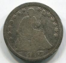 1856 Half Dime, F