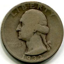 1932 S Washington Quarters ,  VG