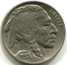 1937 Buffalo Nickel, VF