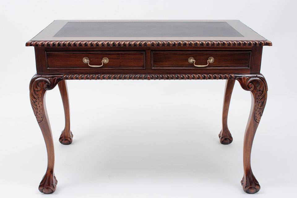 Chippendale Reproduction Antique Desk - Antique Writing Desk Period Reproductions By Laurel Crown