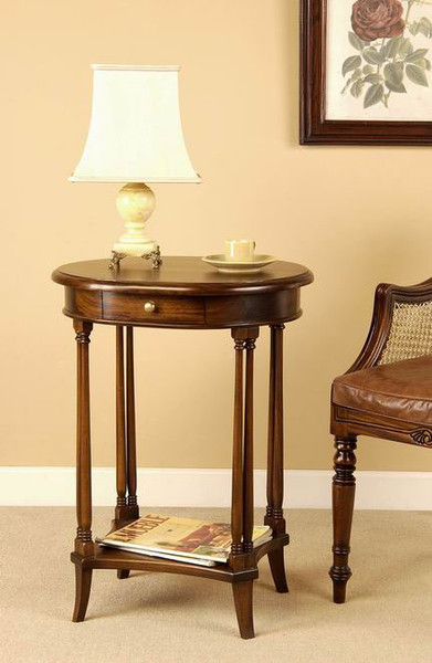 Wonderful Mahogany End Table   Oval