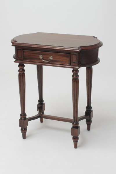 Mahogany Oval Side Table