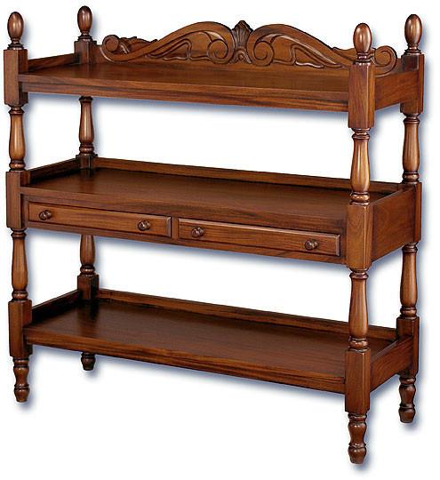 Mahogany Display Rack with Three Shelves