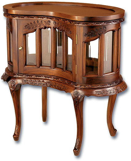 Nut Shaped Drinks Cabinet - Fred Nut Tea Tables - Mahogany Side & End Tables - Handmade Mahogany
