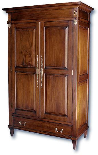 Elegant Solid Wood Wardrobes Hand Carved Mahogany