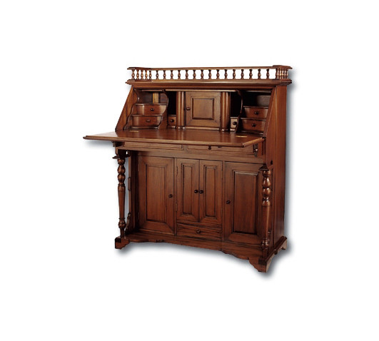 Colonial Drop-Front Writing Desk in Classic Mahogany finish