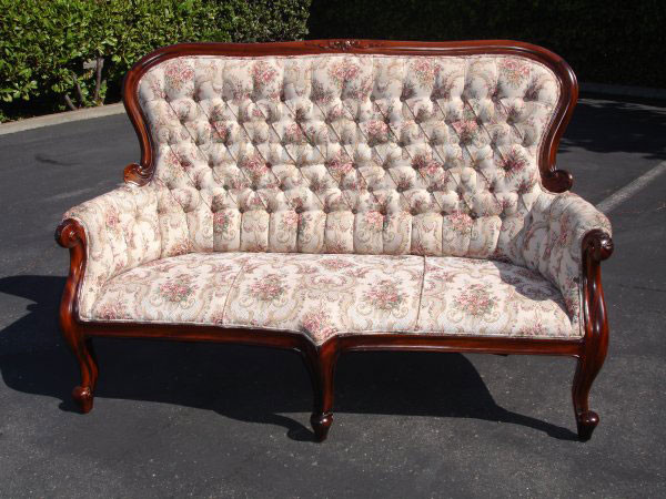 Victorian Spoon-Back Three-Seater Armchair
