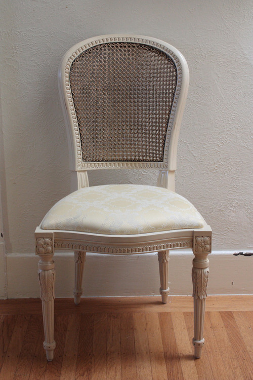 Louis XVI Cane Back Chair LaurelCrown