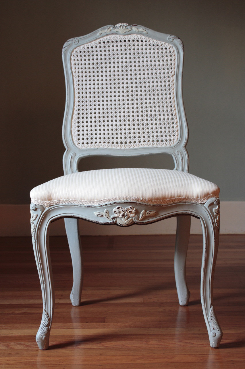 French Cane Chairs Laurel Crown
