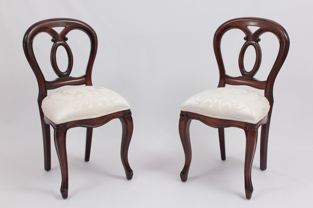 Delicieux Victorian Balloon Back Chairs