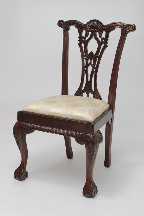 Home · Dining Room; Reproduction Chippendale Chair. Image 1 - Antique Chippendale Chair Laurel Crown