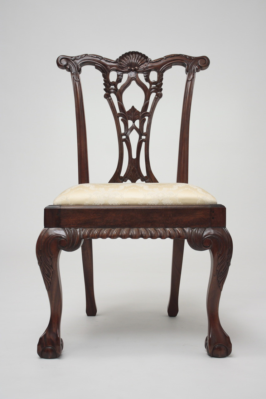 Chippendale arm chair - Chippendale Side Chair With Shell Back