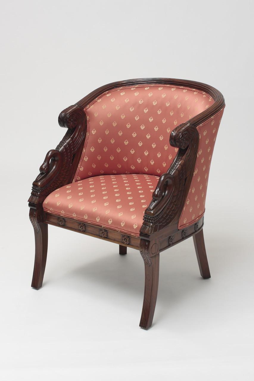 Swan Tub Chair Laurel Crown