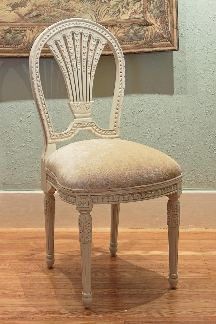 Louis Xvi Side Chair Laurel Crown