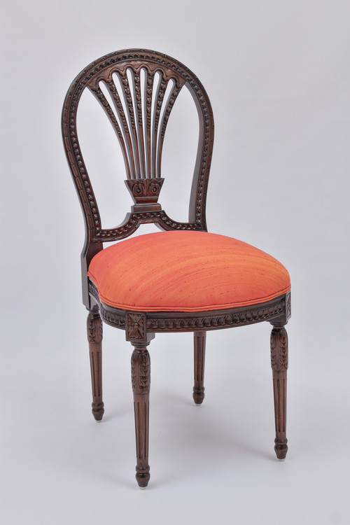 Louis XVI Side Chair Laurel Crown