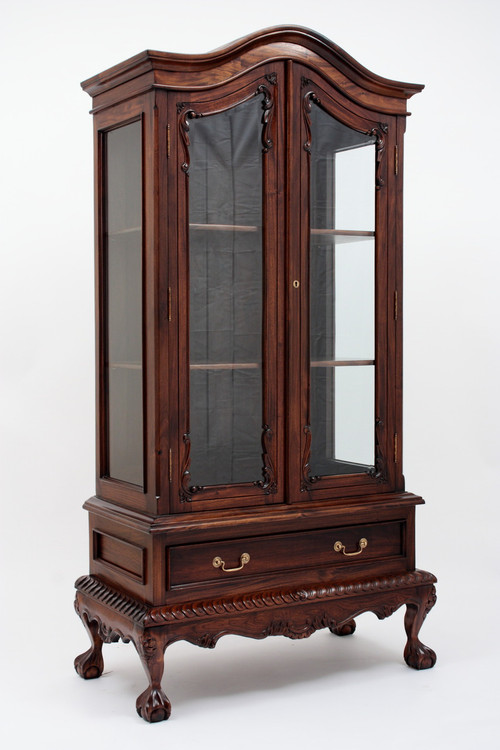 Image 1 - Chippendale China Cabinet - Handmade Mahogany Wood Curios
