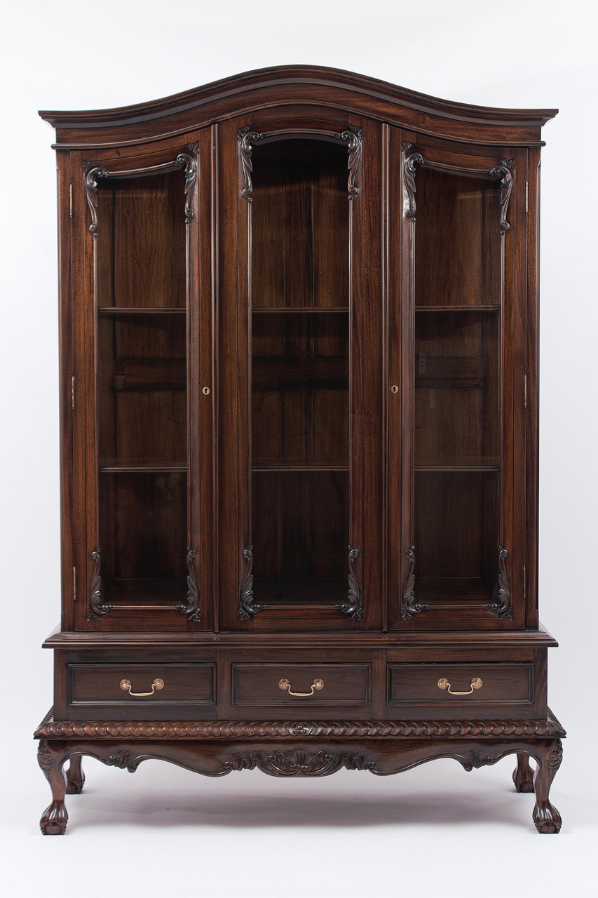 Chippendale China Cabinet Chippendale Style China Hutches Handmade Mahogany Wood Curios