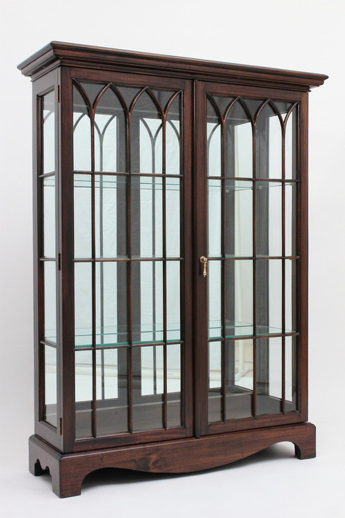 Image 1 - Glass Curio Cabinets - Hand Carved Mahogany China Cabinets