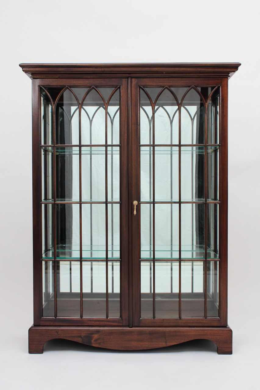 Chippendale China Cabinet Glass Curio Cabinets Hand Carved Mahogany China Cabinets