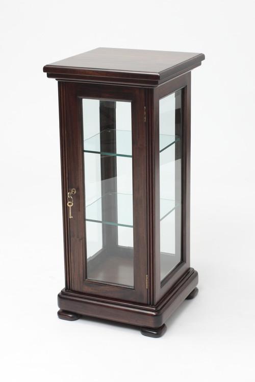 ... Slender Mahogany Display Cabinet. Image 1
