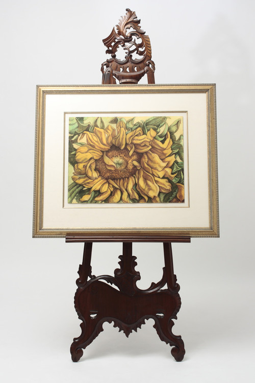 Mahogany Picture Frame Easel Antique Furniture Laurel