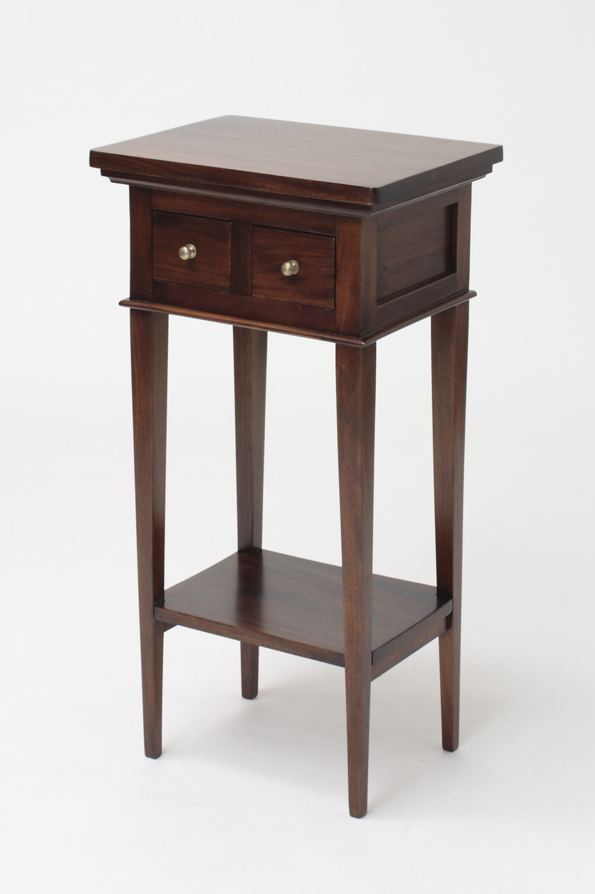 Small Federation End Table Hand Carved Mahogany Corner Tables Solid Mahogany Lamp Tables