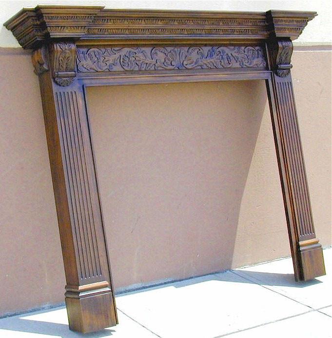 Mahogany Fire Surrounds - Hand Carved Mahogany Mantels - Handmade ...