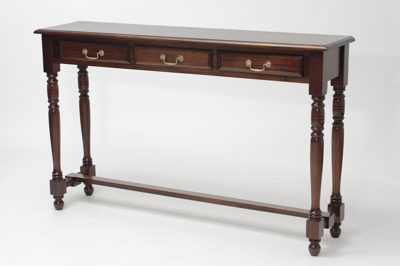 Entry Hall Table with Three Drawers