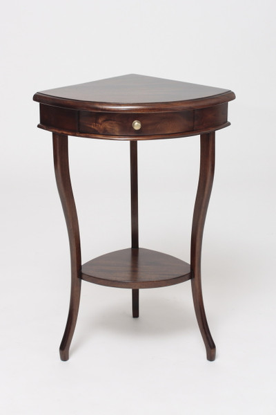 Mahogany Corner Accent Table