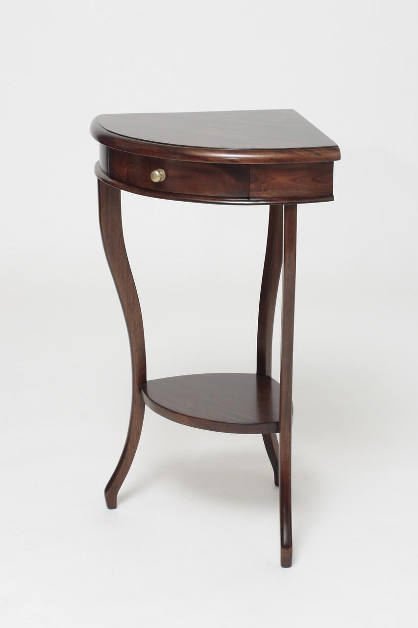 Antique Corner Table Laurel Crown