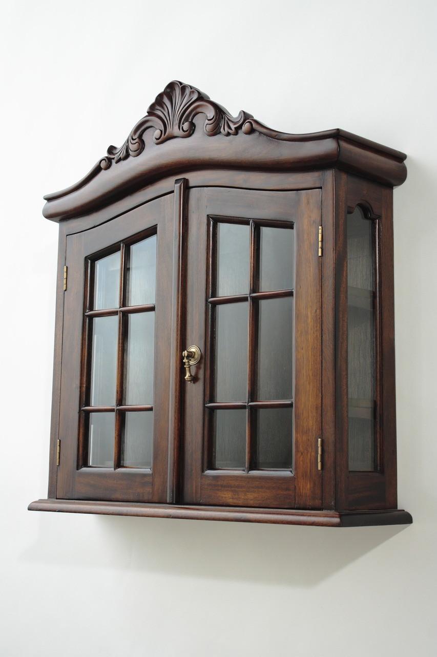 Mahogany Wall Cabinets - Handmade Mahogany Cabinets - Solid ...