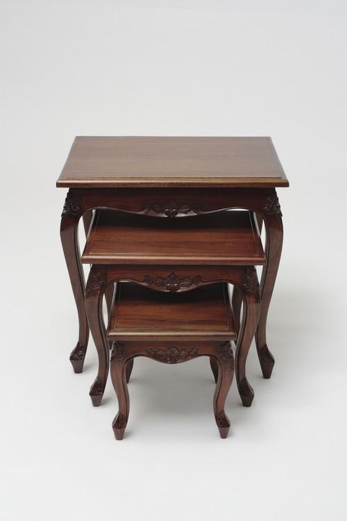 Set Of 3 Mahogany Nesting Tables