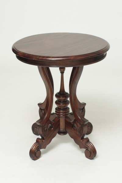 Mahogany Victorian Round Table Laurelcrown