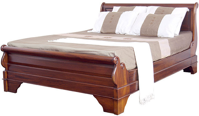 French Sleigh Beds Solid Mahogany Beds Hand Carved