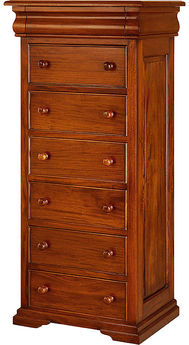French Sleigh Chest of Drawers
