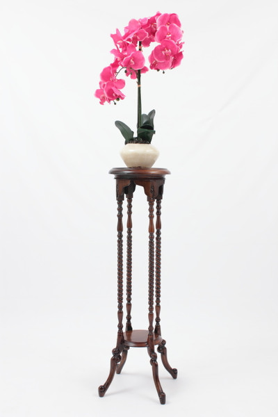 "Decorative Plant Stand in solid mahogany wood (40"" Tall)"