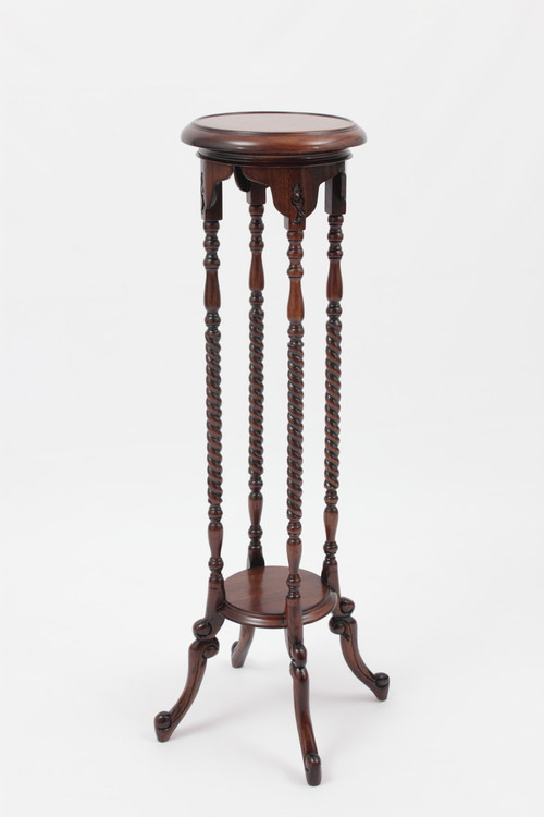 "Victorian Plant Stand (40"" Tall) in solid mahogany wood by Laurel Crown"