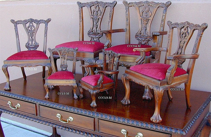 Chippendale Doll chairs  and children's chairs in various sizes