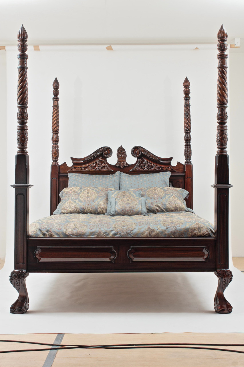 Four Post Bed Canopy four poster beds - canopy beds - solid mahogany beds - hand carved