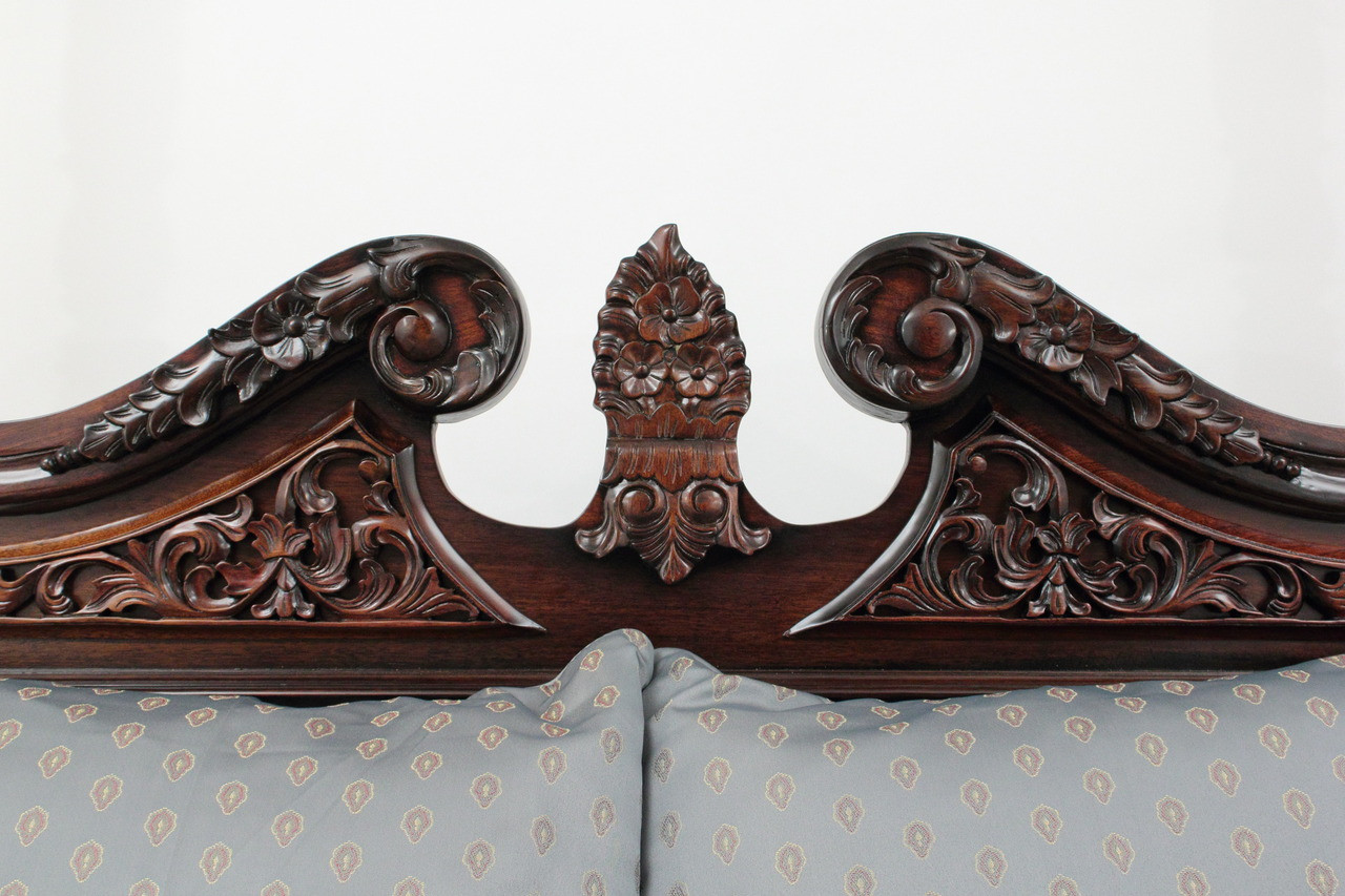 California King Size Chippendale Four Poster Canopy Bed & California King Size Chippendale Four Poster Canopy Bed | Laurel Crown