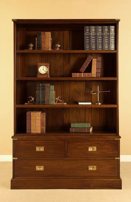 Military Bookshelf 3 Drawers Home Office Bookcases