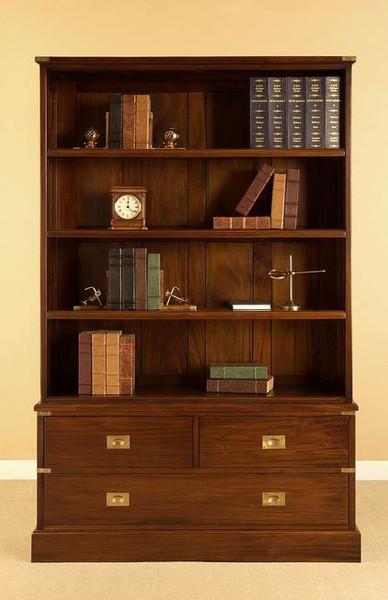 Military Bookshelf with Drawers
