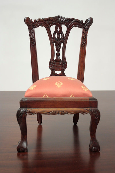 Miniature Chippendale Side Chair with Ball and Claw feet - 1/3 Scale